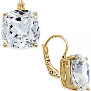 NEW Kate Spade Crystal Square Drop Earrings